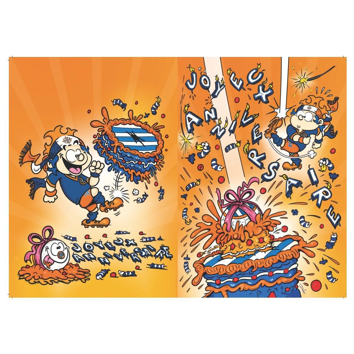 Carte D Anniversaire Pailladinho Mhsc Mhsc La Boutique Officielle Du Montpellier Herault S C