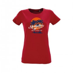 T-shirt rouge femme MHSC
