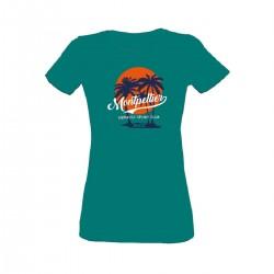 T-shirt bleu vert femme MHSC