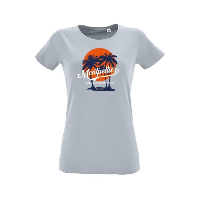 T-shirt gris femme MHSC
