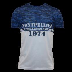 T-shirt camouflage blanc junior MHSC