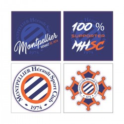 Lot de 4 stickers MHSC