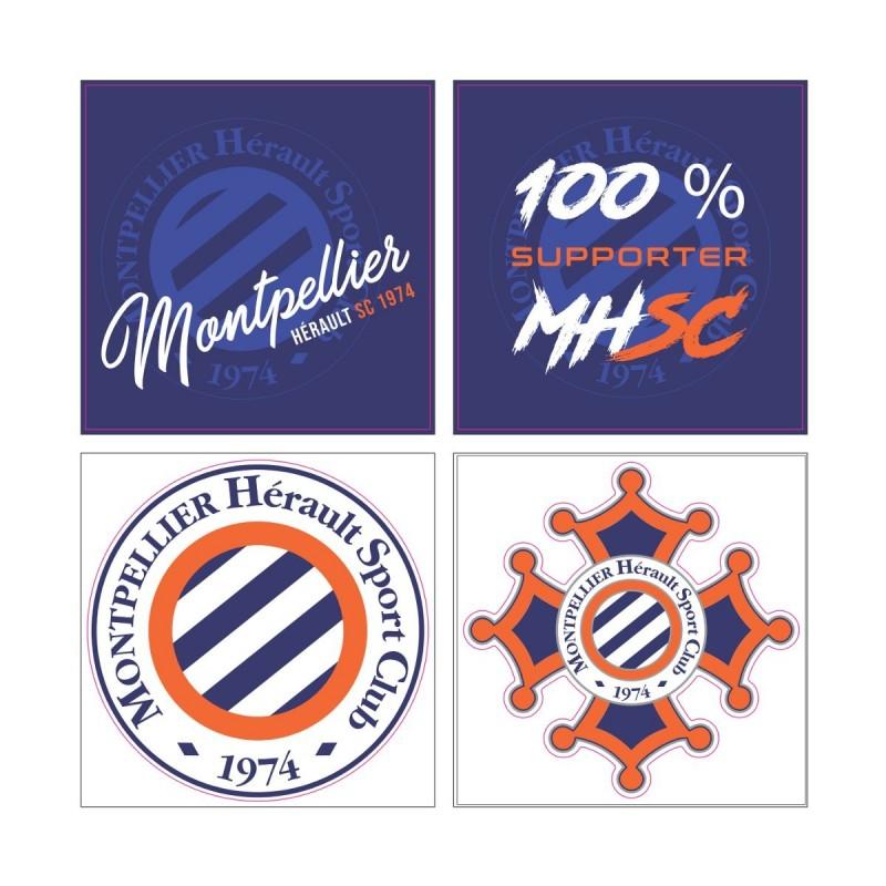 Lot de 4 stickers MHSC