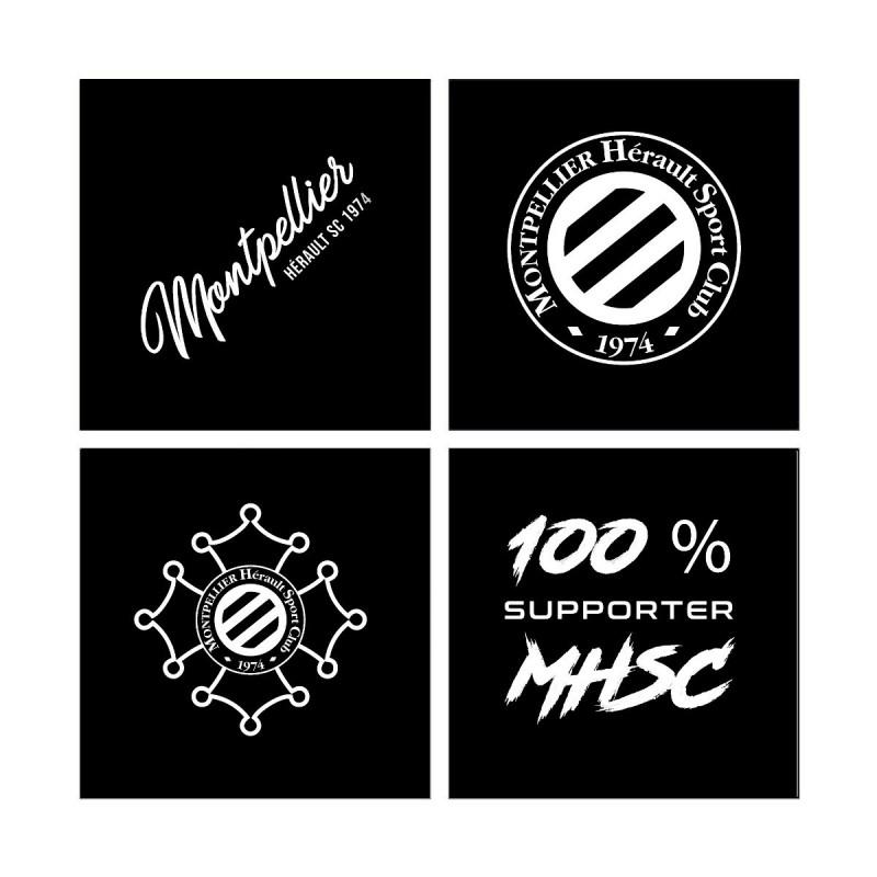 Lot de 4 stickers pare brise MHSC