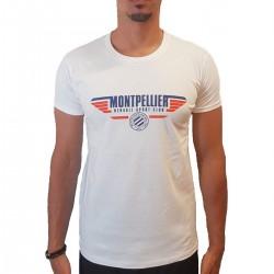 T-shirt Blanc MHSC
