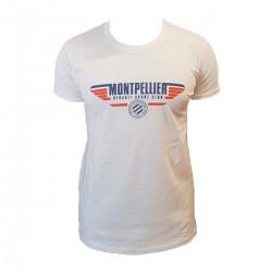 T-shirt Blanc junior MHSC